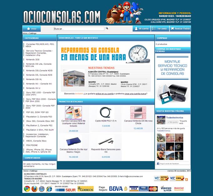 www.ocioconsolas.com---www.ocioconsolas.com-Tienda-online-dedicada-a-la-venta-de-accesorios-para-videoconsolas,-ps2,-playstation,-gba,-xbox,-nintendo-wii,-chip-d2sun