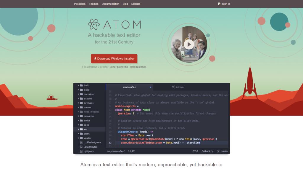 atom_web_de_descarga_editor_texto_libre