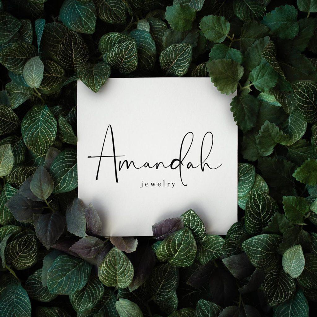 logotipo de amandah jewelry